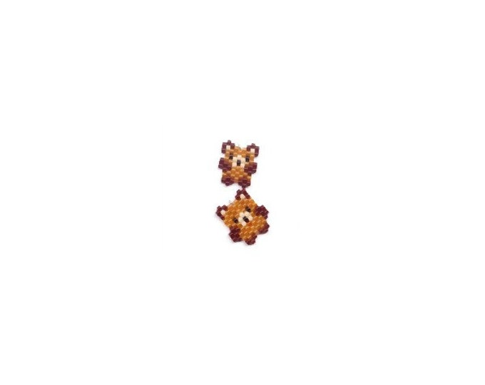 Mini Teddy Bears Brick Stitch Bead PATTERNS | Printable Digital Pattern
