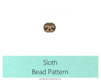 Sloth Brick Stitch Animal Bead PATTERN | Printable Digital Download