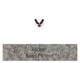 Badger Brick Stitch Bead PATTERN | Digital Download