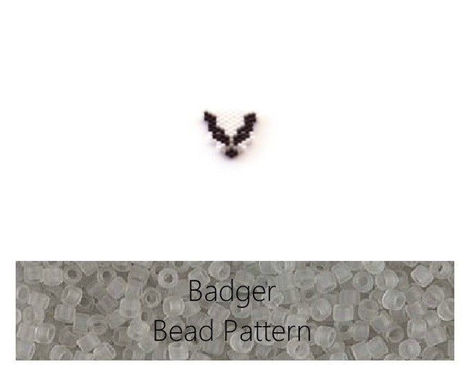 Badger Brick Stitch Bead PATTERN | Digital Download