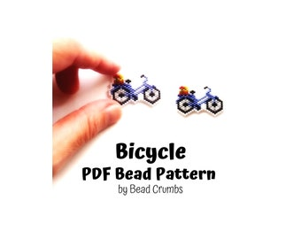 Bicycle Brick/Peyote Stitch Bead PATTERN, DIY Craft Seed Bead Charm, PDF Digital Download