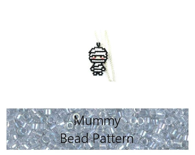 Seed Bead Pattern - Miyuki Delica Mummy - Brick Stitch | Digital Download