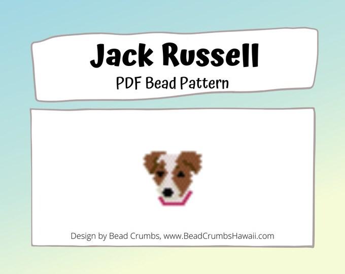 Jack Russell Terrier Brick/Peyote Stitch Dog Bead PATTERN, DIY Craft Seed Bead Charm, PDF Digital Download