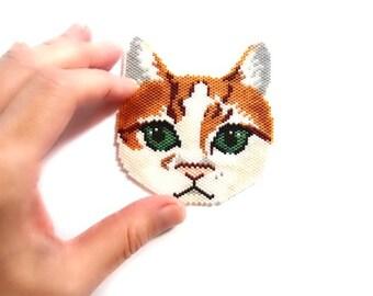 Extra Large Cat Peyote or Brick Stitch Bead PATTERN | DIGITAL FILE