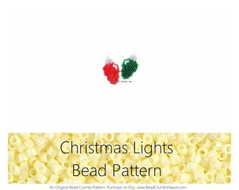 Christmas Lights Brick Stitch Bead PATTERN | DIGITAL DOWNLOAD