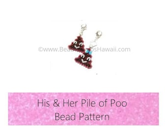 Brick Stitch His & Her Pile of Poo Bead PATTERNS | Printable Digital Download