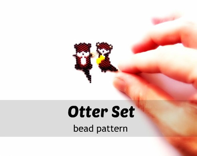 Otters Brick Stitch Bead PATTERN | Printable Digital Download
