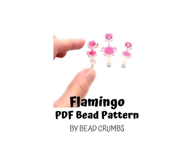 Pink Flamingo Bird Set Bead Pattern, Animal Brick or Peyote Stitch Beading | DIGITAL DOWNLOAD