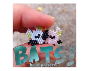 Brick Stitch Mini Bats Bead Pattern