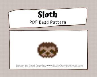 Sloth Bead Pattern, Peyote / Brick Stitch Beading - PDF Digital Download