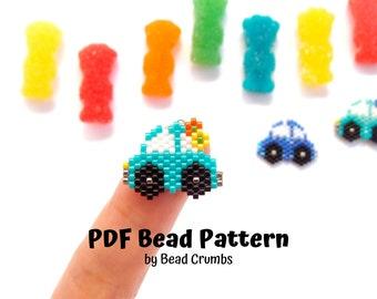 Car Brick Stitch Automoible Beading Pattern, Miyuki Beads, PDF Digital Download P2133226