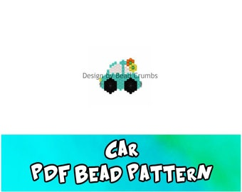 Car Brick Stitch Bead Pattern, DIY Beading Craft, PDF Digital Download