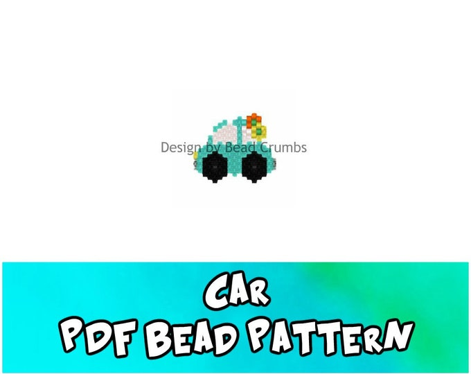 Car Brick Stitch Bead Pattern, DIY Beading Craft, PDF Digital Download