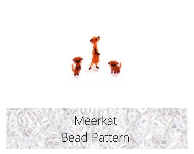 Meerkat Set, Brick Stitch Bead Weaving Pattern | Digital Download