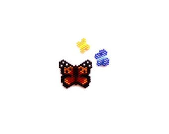Brick Stitch Hawaii Butterflies Bead PATTERNS - Kamehameha, Sleepy Orange, Koa Butterfly |Digital Download