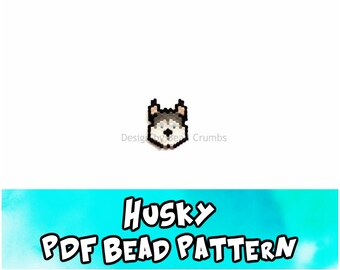 Husky Face, Brick or Peyote Beading Pattern