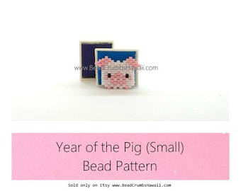Year of the Pig Bead Pattern (Small), 2019 Chinese Zodiac Animal