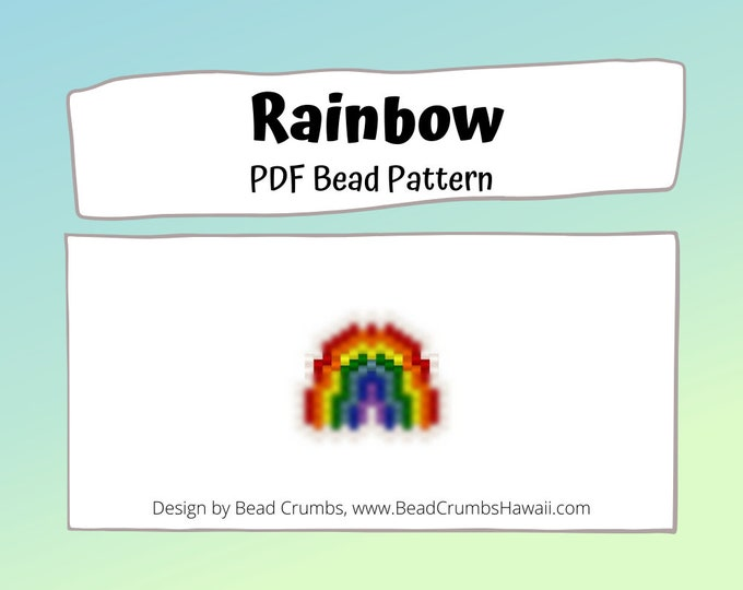 Rainbow Bead Pattern, Peyote / Brick Stitch Bead Weaving | DIGITAL DOWNLOAD
