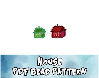 House Bead Pattern, Brick / Peyote Stitch Charms, Digital File