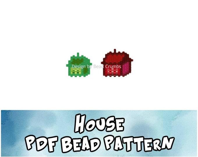 House Bead Pattern, Brick / Peyote Stitch Charms, Digital File
