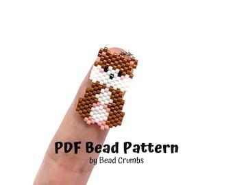 Hamster Bead Pattern, Miyuki Brick Stitch Charm, PDF Digital Download - P2161871