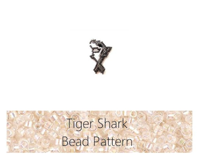Tiger Shark Brick Stitch Bead PATTERN | Printable Digital Download