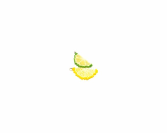 Lemon & Lime Fruits Brick Stitch Bead PATTERN | DIGITAL DOWNLOAD