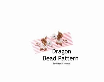 Mini Dragon Bead PATTERN, Digital Download