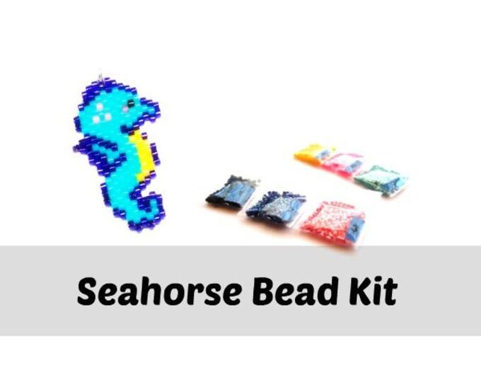 Brick Stitch Seahorse Beading Kit, Miyuki Delica 11/0