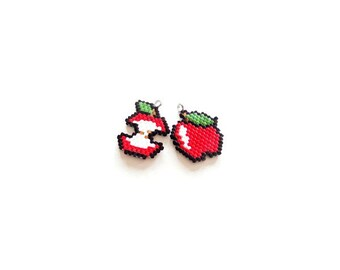 Brick Stitch Apples Beading PATTERN | DIGITAL DOWNLOAD