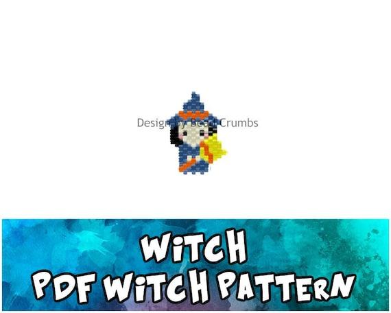 Witch Brick Stitch Bead PATTERN, Digital Download