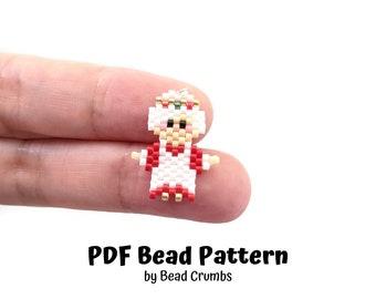 Mrs Santa Claus Christmas Bead Pattern, Miyuki Brick Stitch Charm, PDF Digital Download - P2166445
