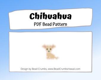 Chihuahua Dog Brick or Peyote Stitch Bead PATTERN   PDF Digital Download