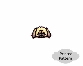Pekingese Dog - Brick Stitch Beading, Printed (Hard Copy) Pattern