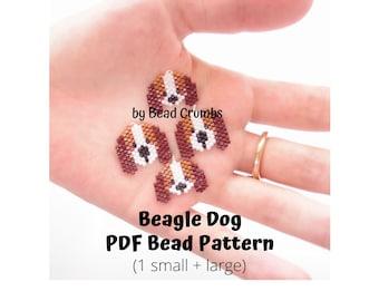 Beagles Brick/Peyote Stitch Dog Bead PATTERN, DIY Craft Seed Bead Charm, PDF Digital Download