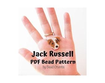 Jack Russell Terrier Dog Brick Stitch Bead Pattern, PDF Digital Download