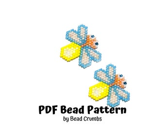 Firefly Insect Bead Pattern, Miyuki Brick Stitch Charm, PDF Digital Download - P2160016