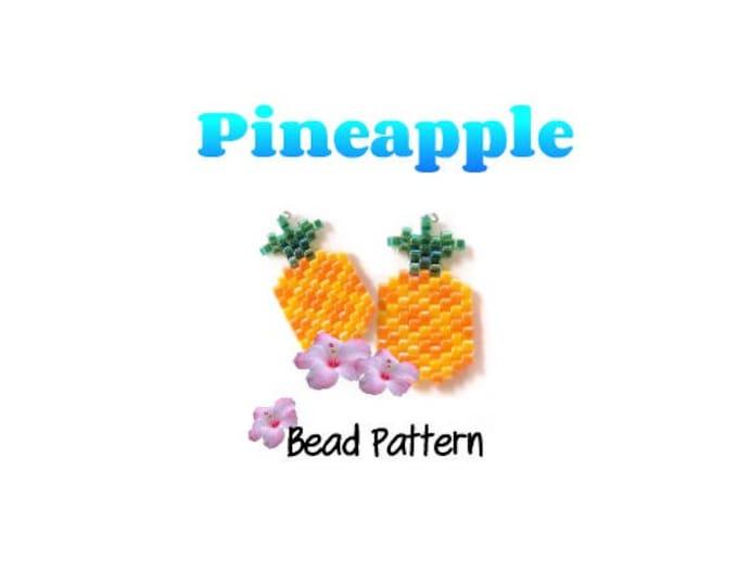 Pineapple Charm Beading Pattern, Miyuki Delica Seed Beads