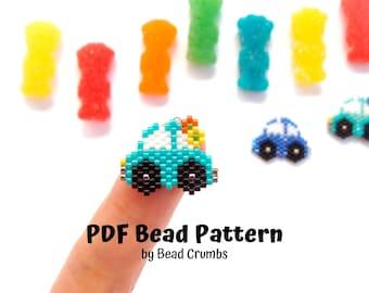 Car Brick Stitch Automobile Beading Pattern, Miyuki Beads, PDF Digital Download P2133226
