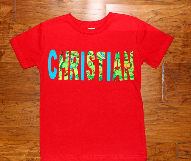 99d4fd662c Personalizada de niños personalizadas t-shirt-tortuga Ninja