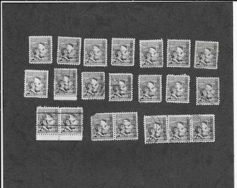 USA 1965 LINCOLN Black 4 cent Postage Stamps -  Lot of 2 - Free Postage Australia Wide - Instant Checkout For International Postage