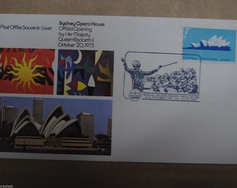 Australian SYDNEY OPERA House 1973 FDC First Day Cover - Postmarked - Free Postage Australia Wide