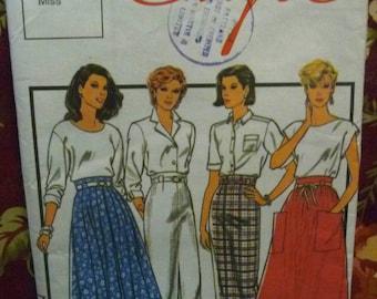 Vintage 1980's STYLE Women's Sewing Pattern - Pattern #4627 - Free Postage Australia Wide