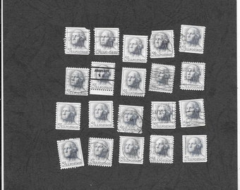 USA 1962 George Washington Blue Postage Stamps, Lot of 20 - Free Postage Australia Wide - Instant Checkout For International Postage
