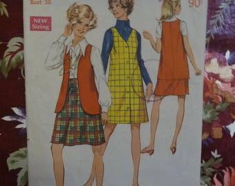 Vintage 1970's SIMPLICITY Misses Sewing Pattern - Pattern #8355 - Free Postage Australia Wide