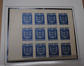 War Stamps - World War II POW Camp Hanau Estonia Mint Stamp Sheet - Red or Blue Estonia stamps available - Free Postage Australia Wide