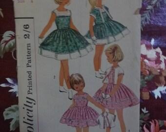 Vintage 1960's SIMPLICITY Girls Sewing Pattern - Pattern #1978 - Free Postage Australia Wide