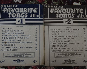 Vintage ALBERTS SONGS Albums / Sheet Music Booklets - Set of 2 - Free Postage Australia Wide