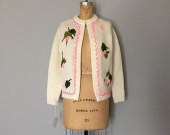70s embroidered sweater cape