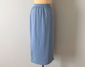 periwinkle blue knitted skirt || maxi knitted skirt